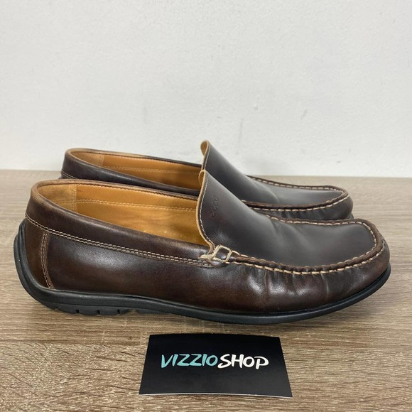 Ecco Leather Loafers Men 7/7.5 Extra Wide 0433320